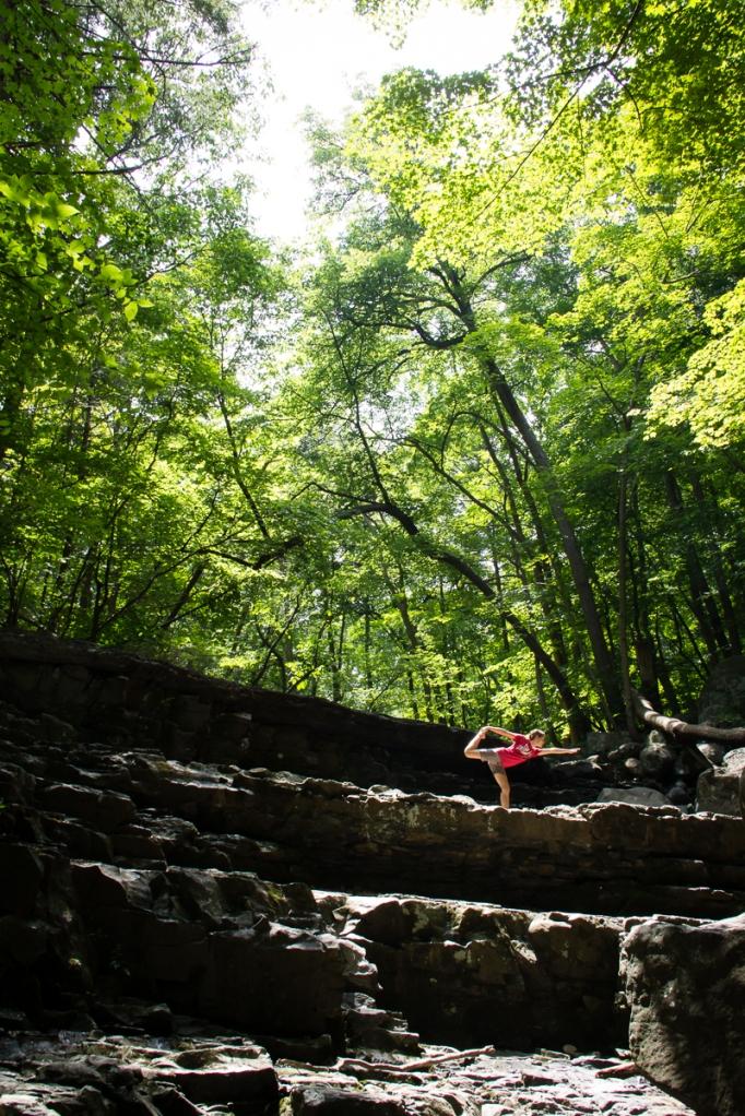 Yoga at Ringing Rocks