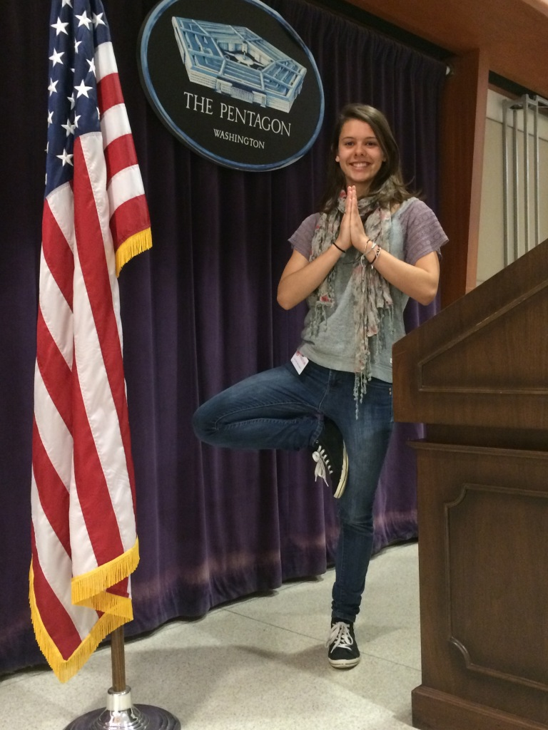 Tree pose at the Pentagon!