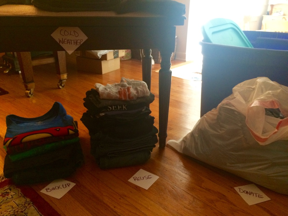 Donate, Reuse, Cold Weather Piles