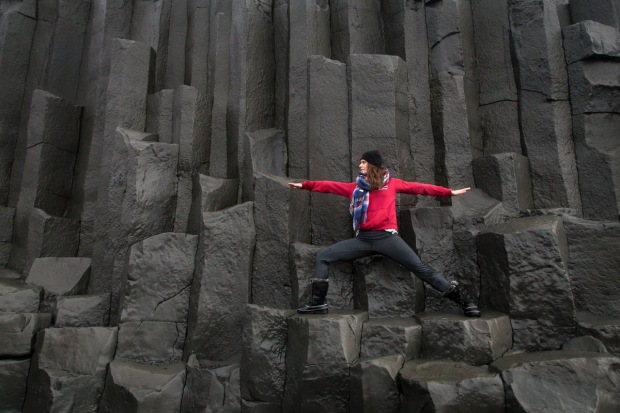 Yoga in Iceland (Black Sand Beach)