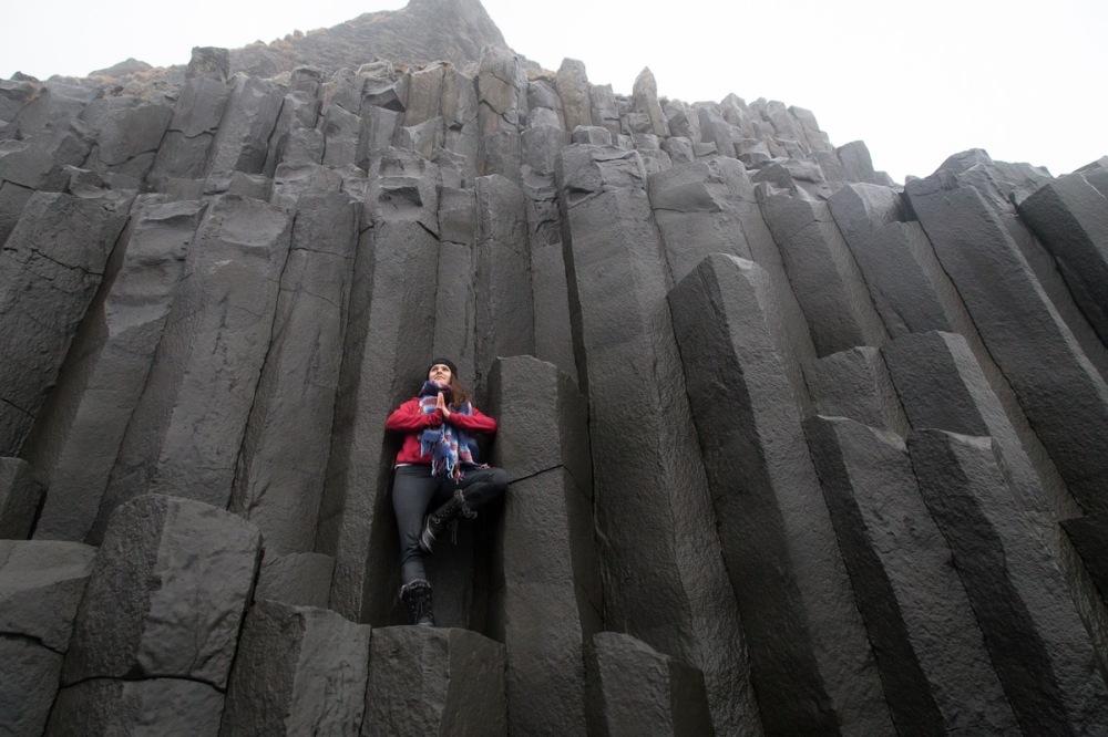Yoga in Iceland (Black Sand Beach)