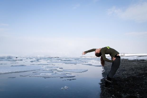 Yoga in Iceland (Glacier Lagoon)