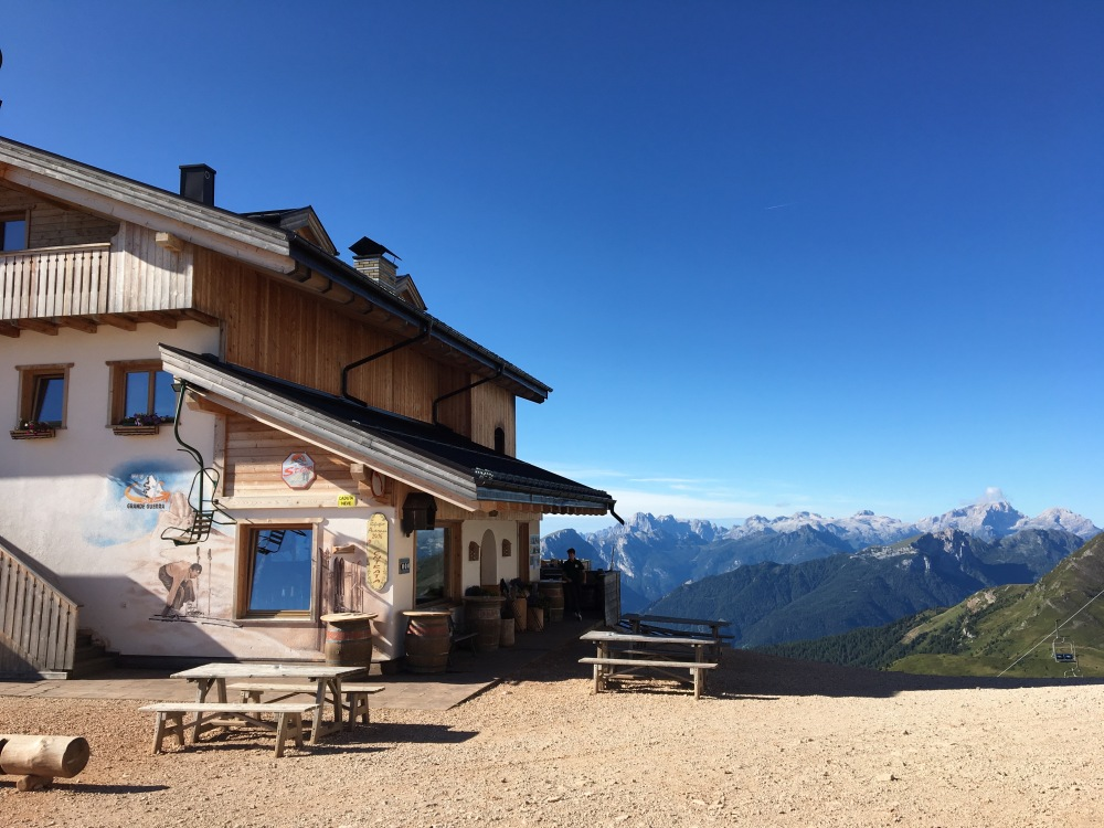 Rifugio Averau in the Dolomites