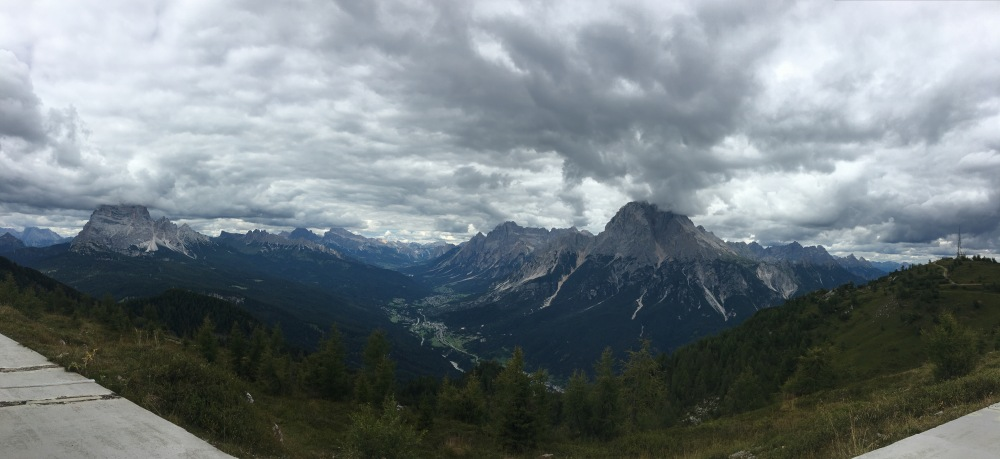 View from the Dolomiti Messner Mountain Museum